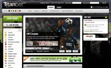 Scommesse sportive online su Titan Bet