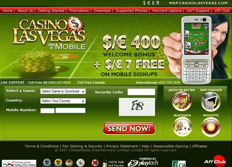 Casino Las Vegas Mobile Lobby
