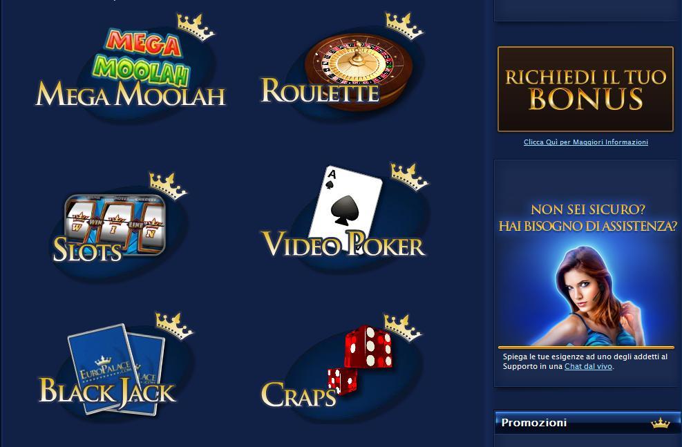 Giochi Europalace Casino