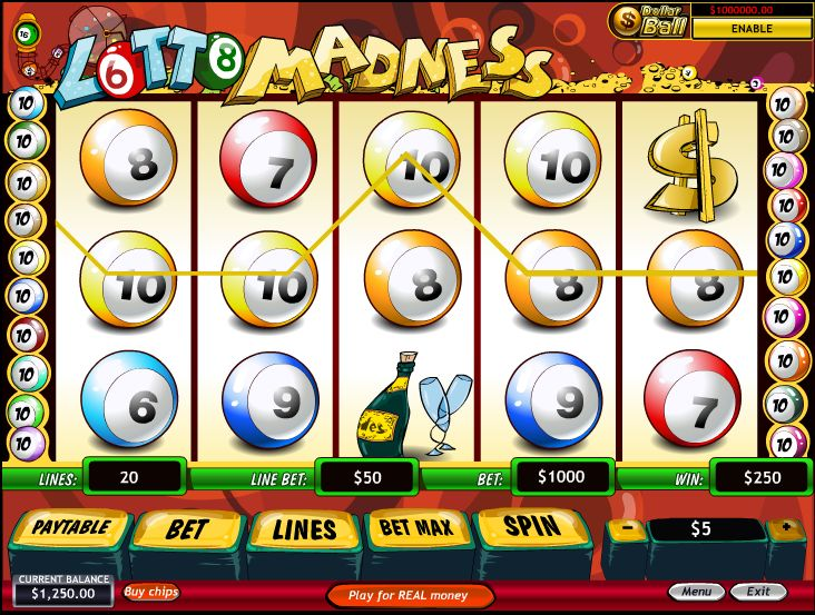 Slot Machine Lotto Madness