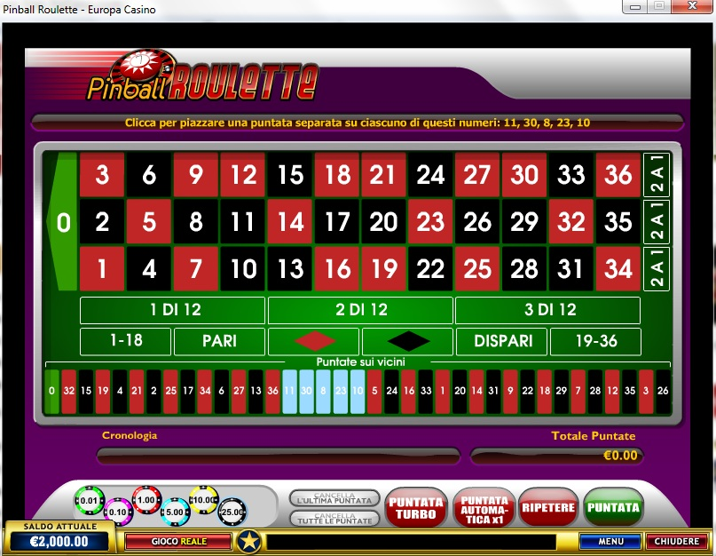 Gioca a Pinball Roulette su Casino.com Italia