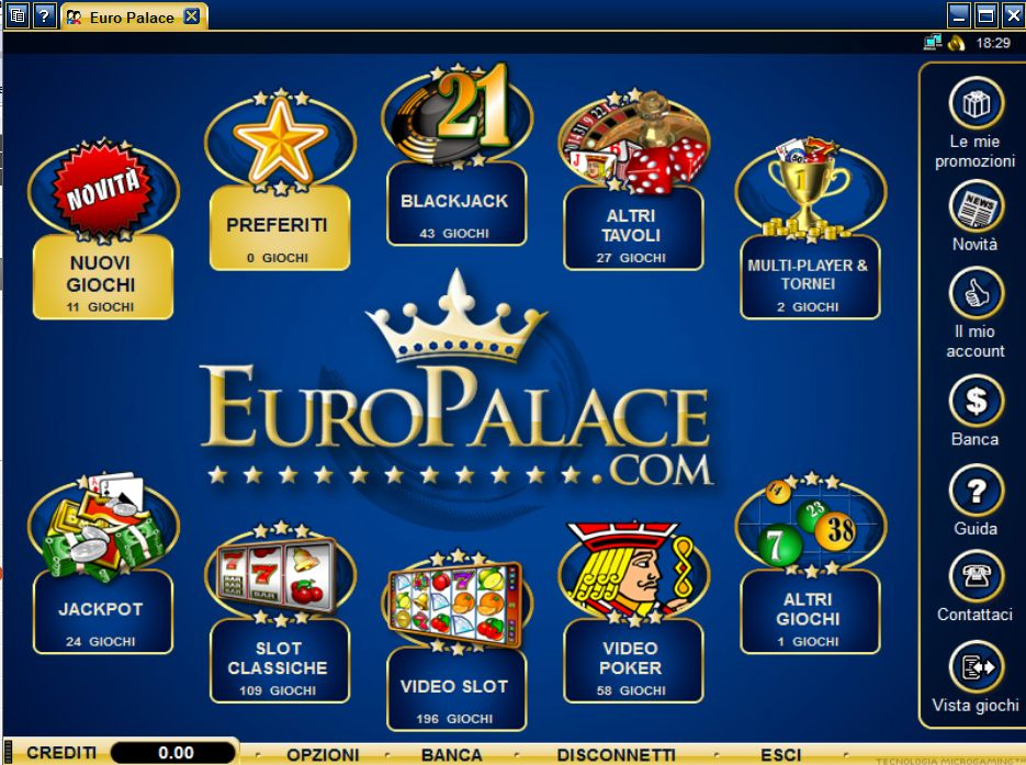 Europalace casino online slot machines without downloading