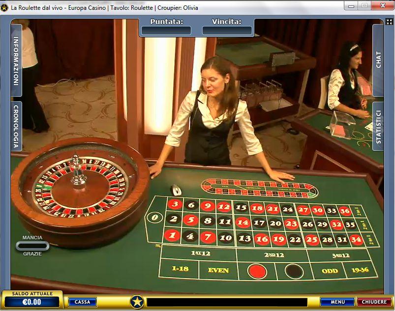 Roulette online dal vivo