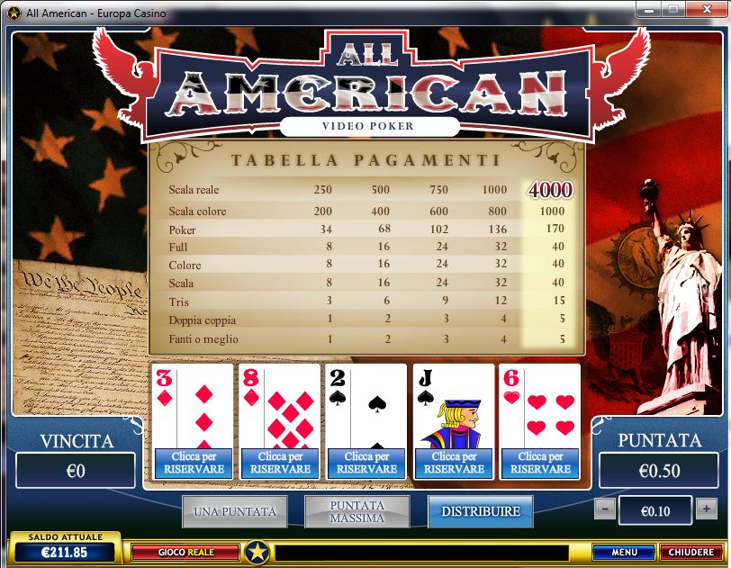 Gioca a All American su Casino.com Italia