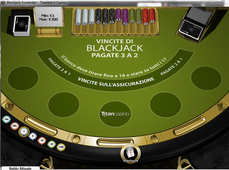 Gioca a Blackjack Surrender su Casino.com Italia