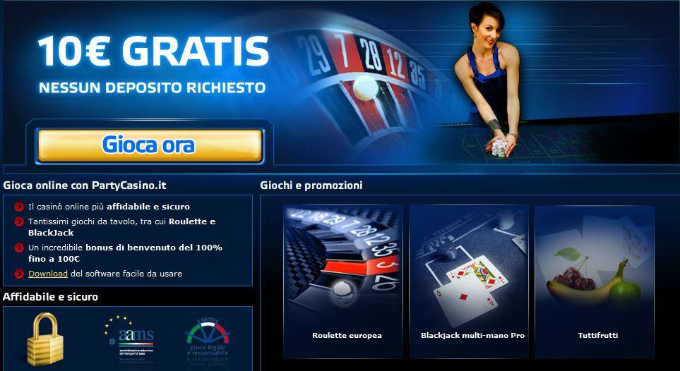 Codici bonus casino senza deposito