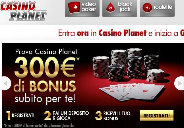Codice bonus casino planet