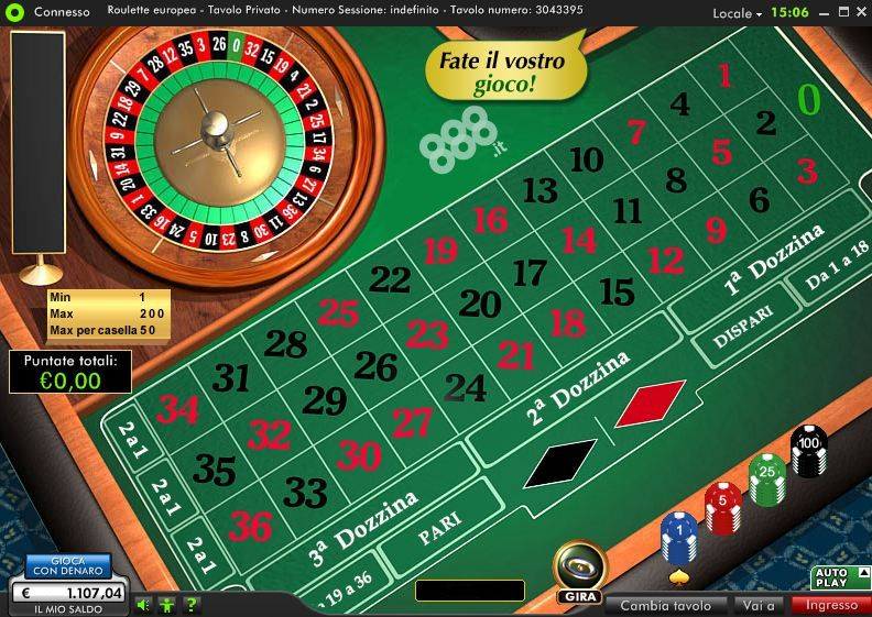 roulette free game 888