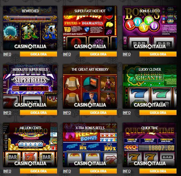 Le slot machine in italia