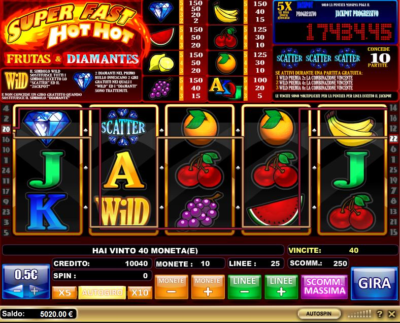 Slot Machine Super Fast Hot Hot Una Stupenda Slot