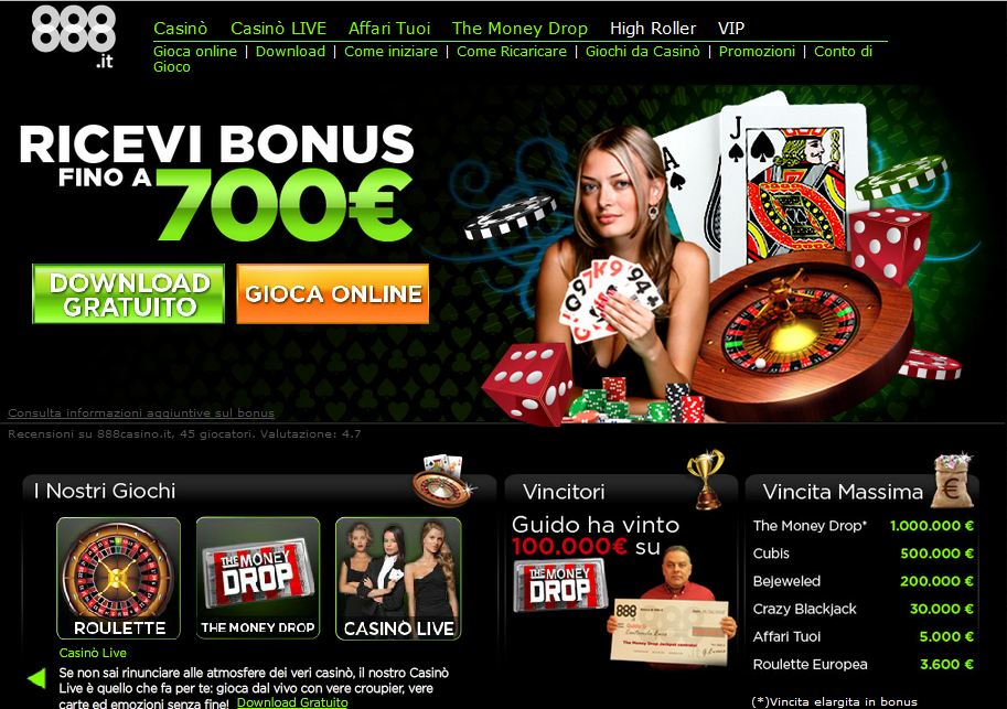 Miglior casino online aams