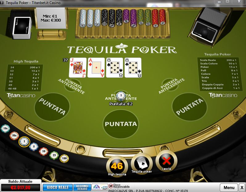 Play Tequila Poker at Casino.com Australia