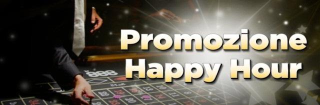 Ecco di seguito tutti i dettagli della promozione Happy Hour di 888.it.