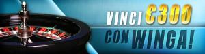 Partecipa alla nuova promozione di Winga Casinò e potrai vincere bonus fino a 300 euro!