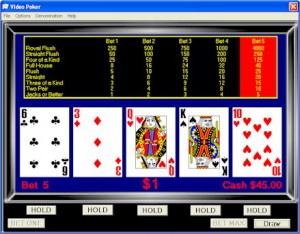 Video Poker All American su TitanBet.it