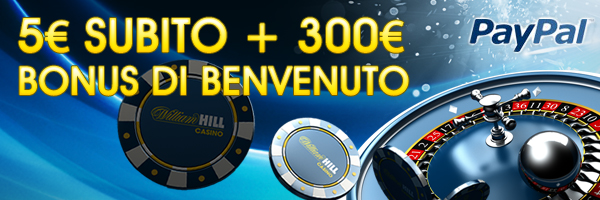 5 euro paypal william hill