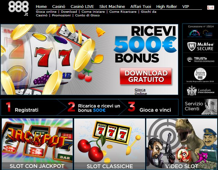 slot machine gratis 888.it