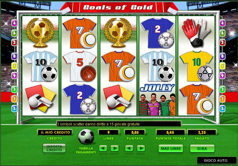 slot machine gratis calcio