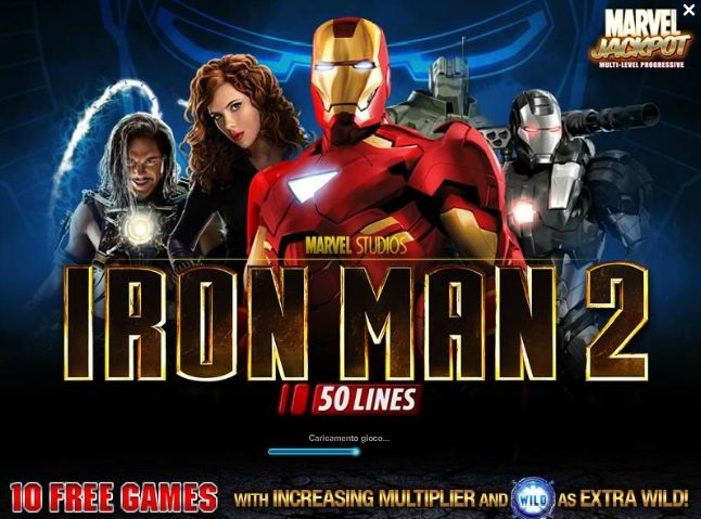 slot machine iron man 2 50 linee