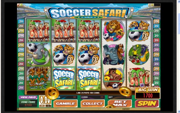 soccer safari slot machine