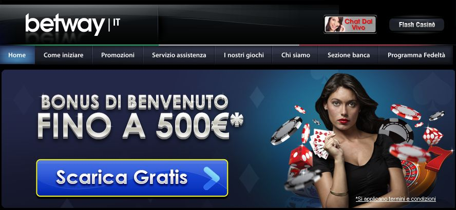 betway  bonus 500 euro