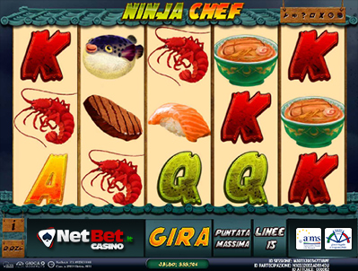 ninja chef slot machine