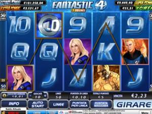 Fantastici 4 è una delle slot machine AAMS di maggior successo create dalla Playtech.
