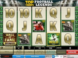 Slot Machine Top Trumps Football Legends: recensione.