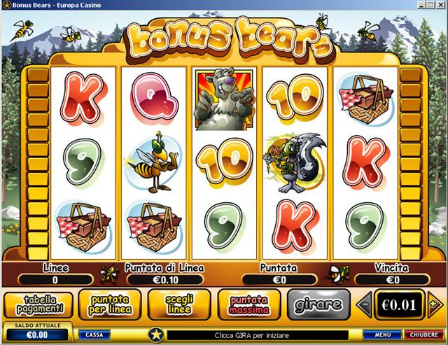 Recensione completa della slot machine Bonus Bears. Prova gratis come si gioca.