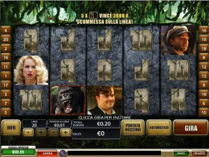Gioca gratis a King Kong, la Slot Machine creata dalla Playtech e disponibile su TitanBet Casino.