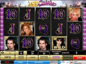 Gioca gratis alla Slot Machine Top Trumps Celebs, una delle migliori slot della Playtech.