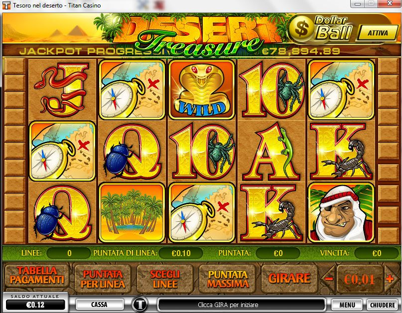 Recensione completa della slot machine Desert Treasure creata dalla Playtech e disponibile su TitanBet Casino.
