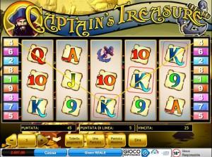 Gioca gratis alla slot machine Captain's Treasure su TitanBet Casino. Recensione completa.