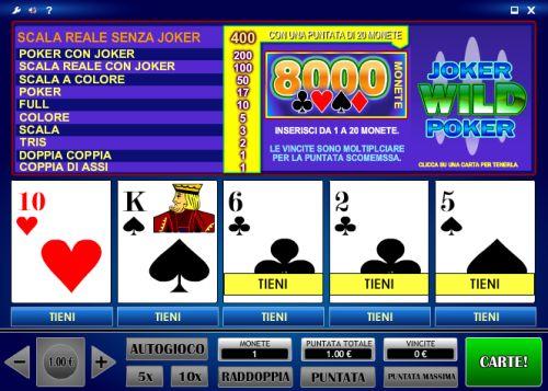 video-poker-tabelle-pagamento