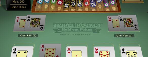 Triple Pocket Hold'em-regole