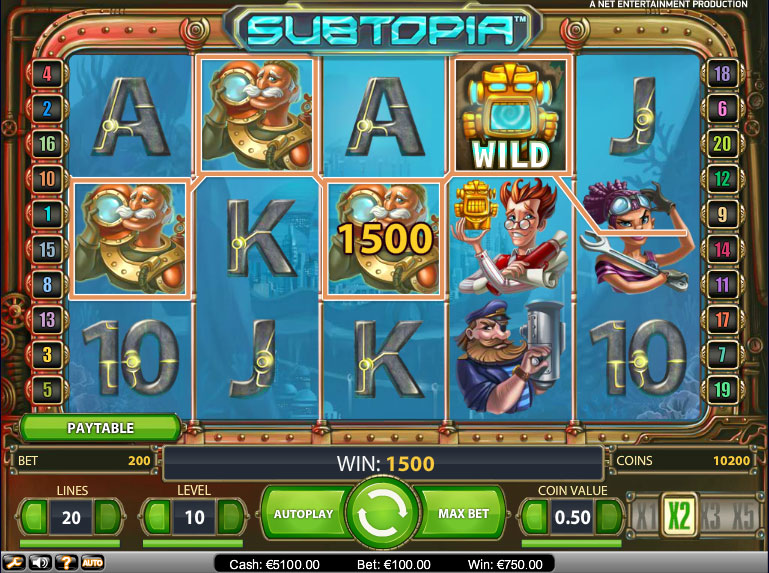 Subtopia-slot machine